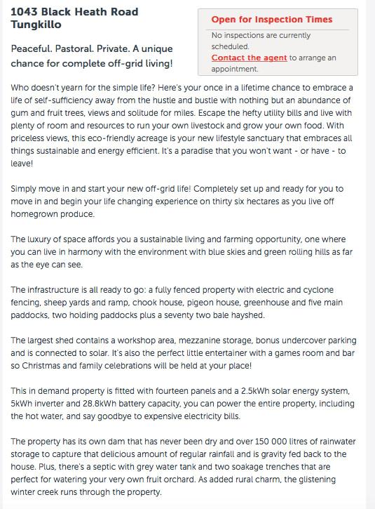 copywriting services real estate