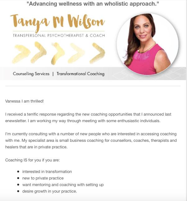copywriting services tanya