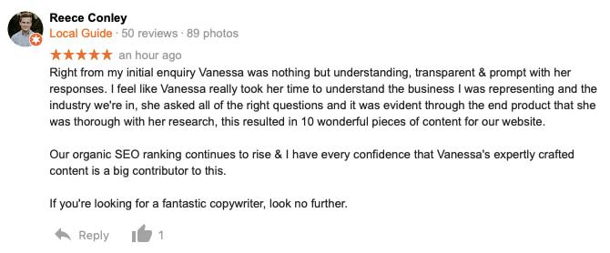 seo copywriting feedback