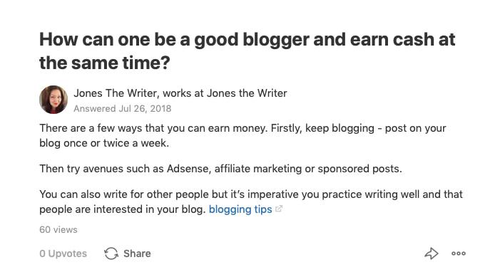 copywriter and blogger