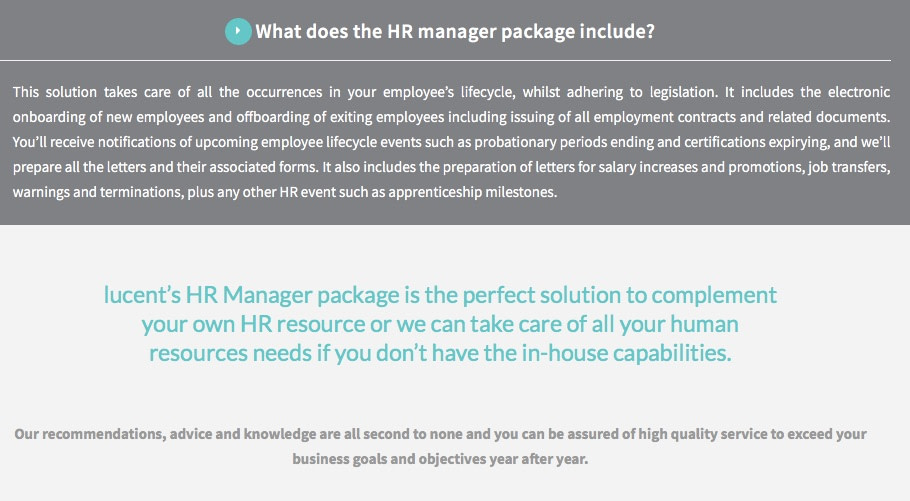 copywriting services HR