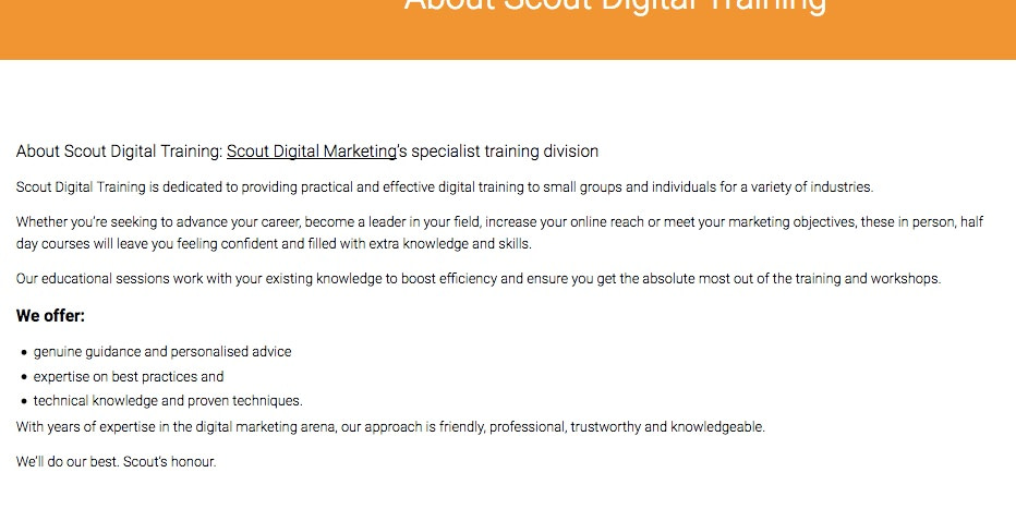 copywriting services scout